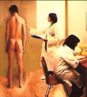 """Das Bild ist dem Titel des Buches """"Musterung - Staatlich legitimierte Perversion"""" von Lars G. Petersson entnommen"""