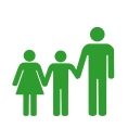Vater und Kinder