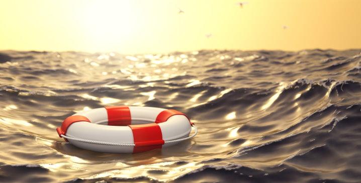 Rettungsring für Mäner in Not
